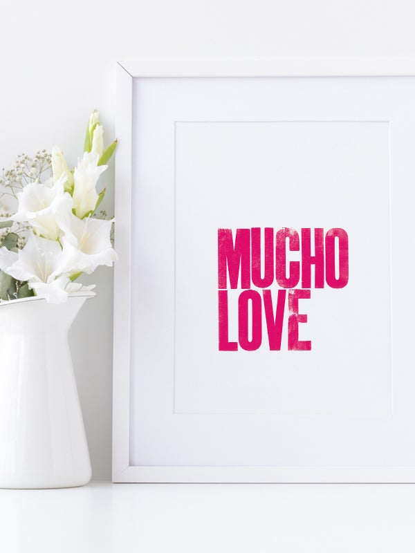 Image of Mucho Love A3 art prints