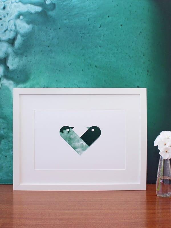 Image of Love Birds A4 art prints