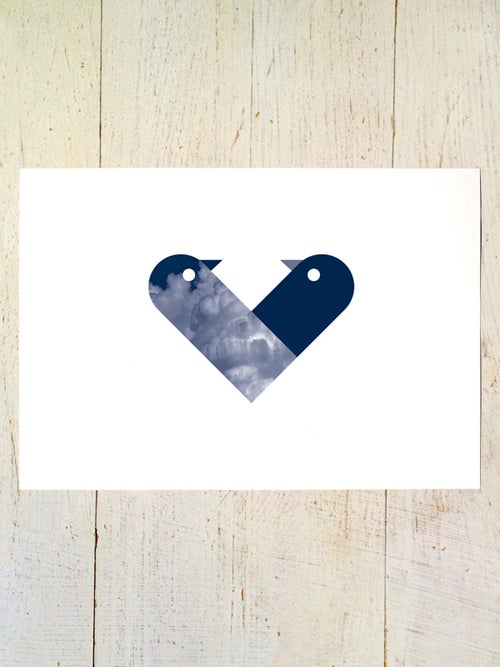 Image of Love Birds A4 art prints