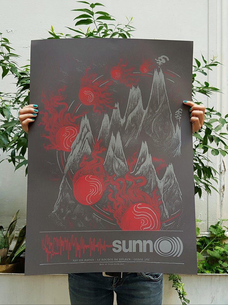 Image of SUNNO))) (gig poster Bordeaux) 2019
