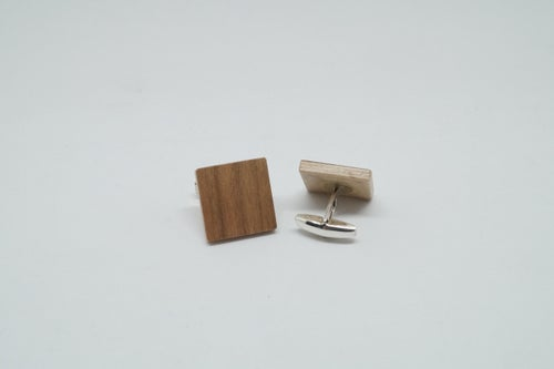 Image of set Wooden Bow Tie - Cufflinks - Wild Cherry