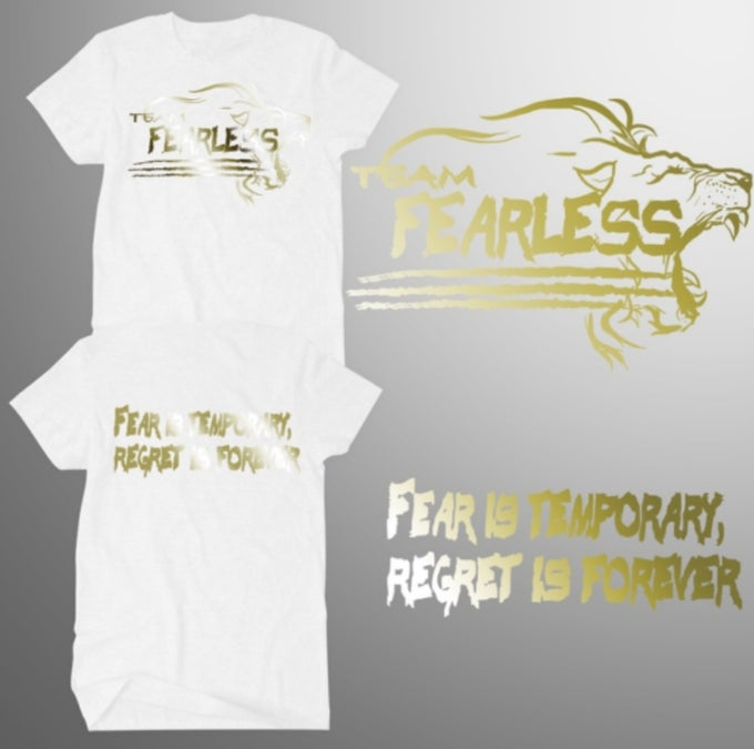 Image of TEAM FEARLESS GOLD (AVAILABLE IN MIAMI GREEN, NAVY, WHITE, OR BLACK)