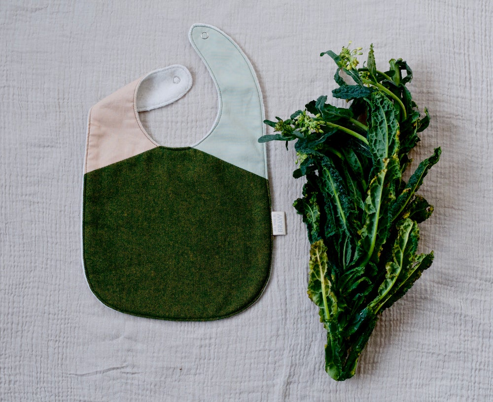 Image of Spring Greens Bib // Feeding Dribble Baby bib