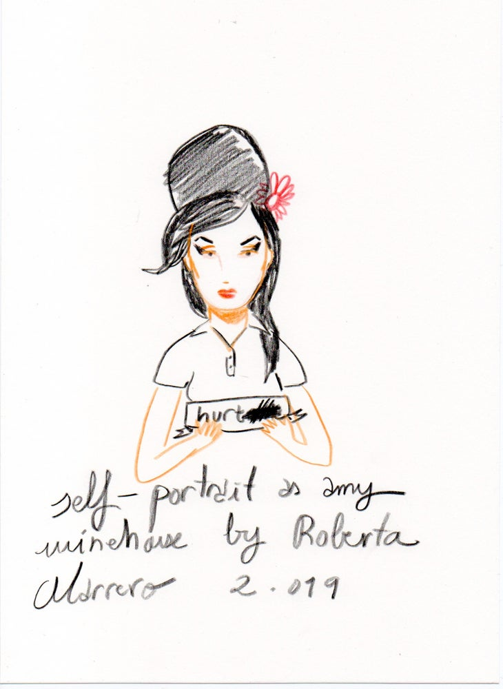 Image of Self-portrait as Amy Winehouse