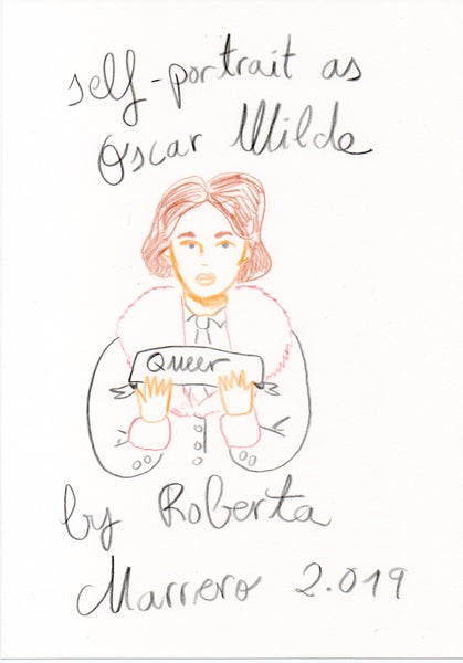 Image of Self-Portrait as Oscar Wilde