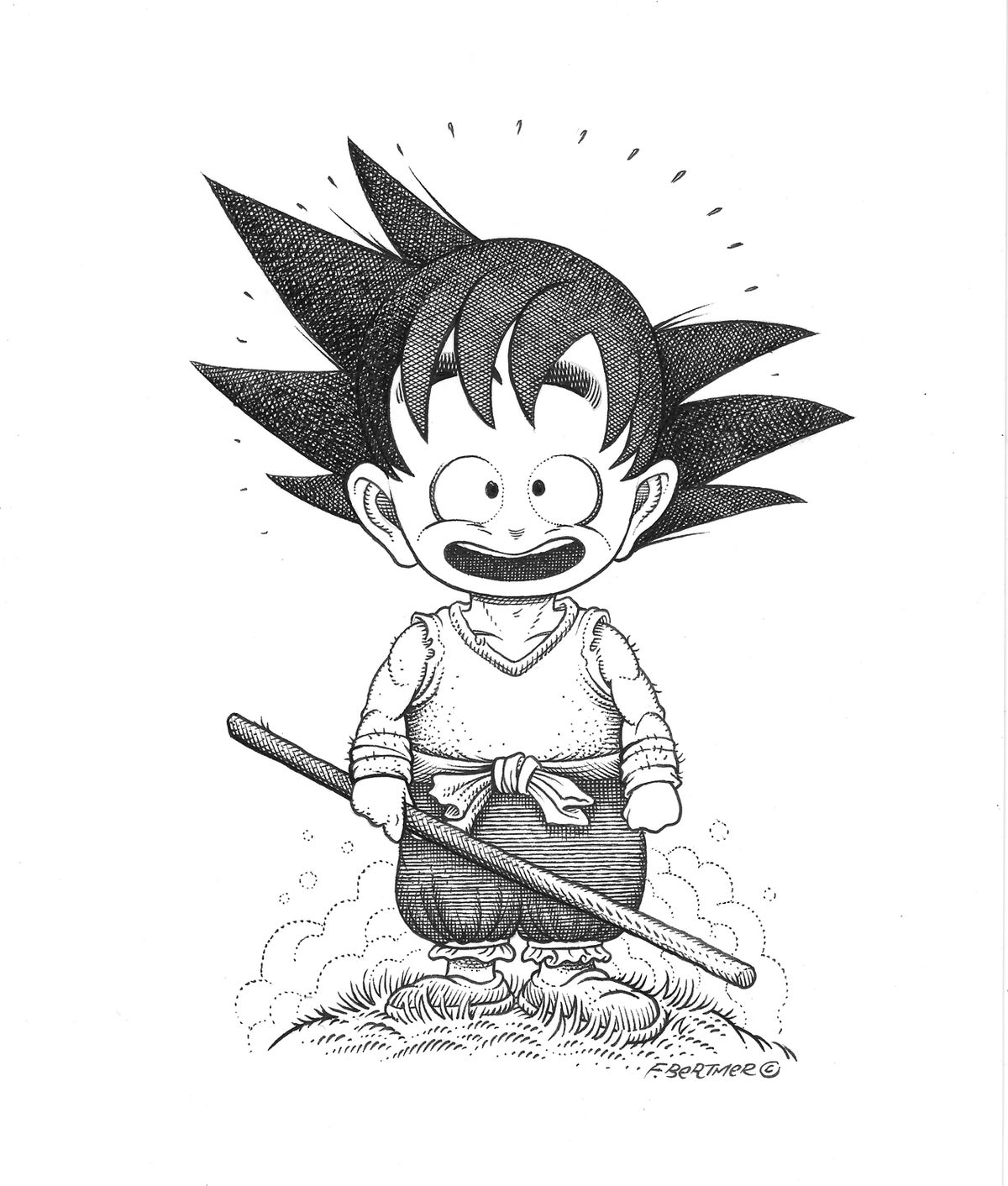 Image of Kid Goku - Original Art