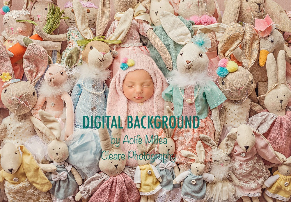 Image of find my bunny ! newborn layered digital background