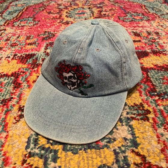 Image of Original Vintage Grateful Dead Denim Bertha Cap! 1990's