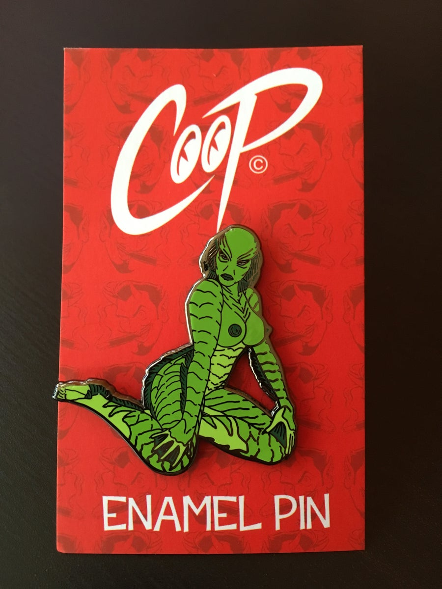 Image of SHE CREATURE enamel pin