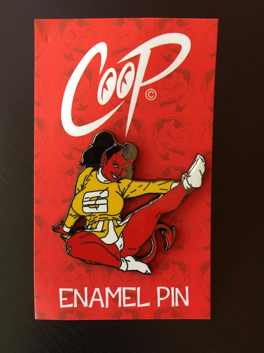 Image of SATAN'S CHEERLEADER enamel pin
