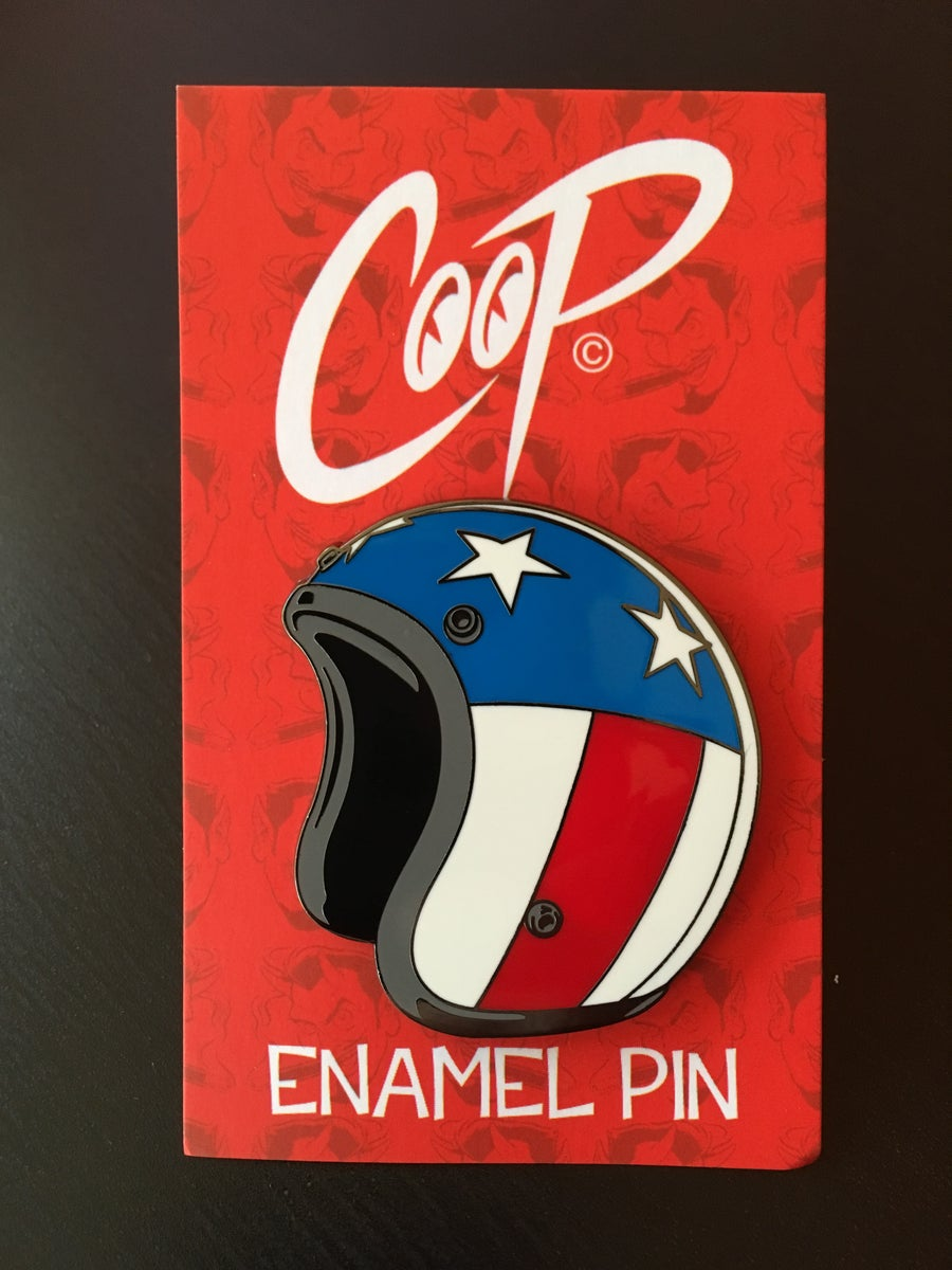 Image of HELMET Enamel Pin