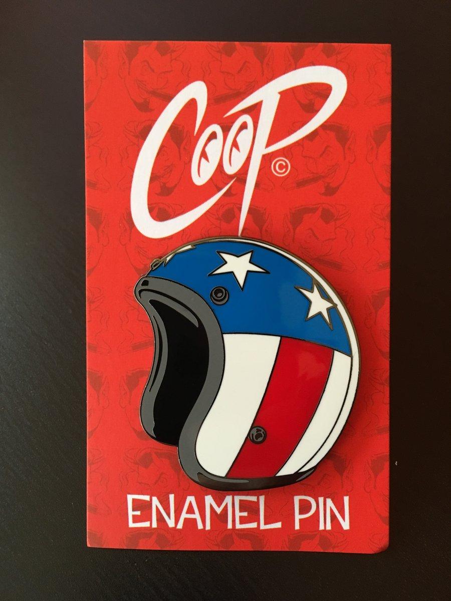 Image of HELMET Enamel Pin