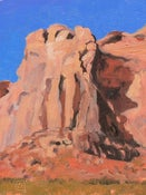 Image of Red Cliff and Blue Sky
