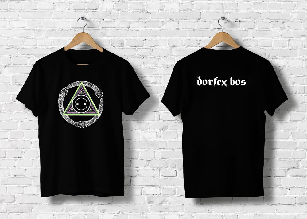 "Image of Dorfex Bos ""Tri-Serpent"" Short Sleeve T-Shirt"