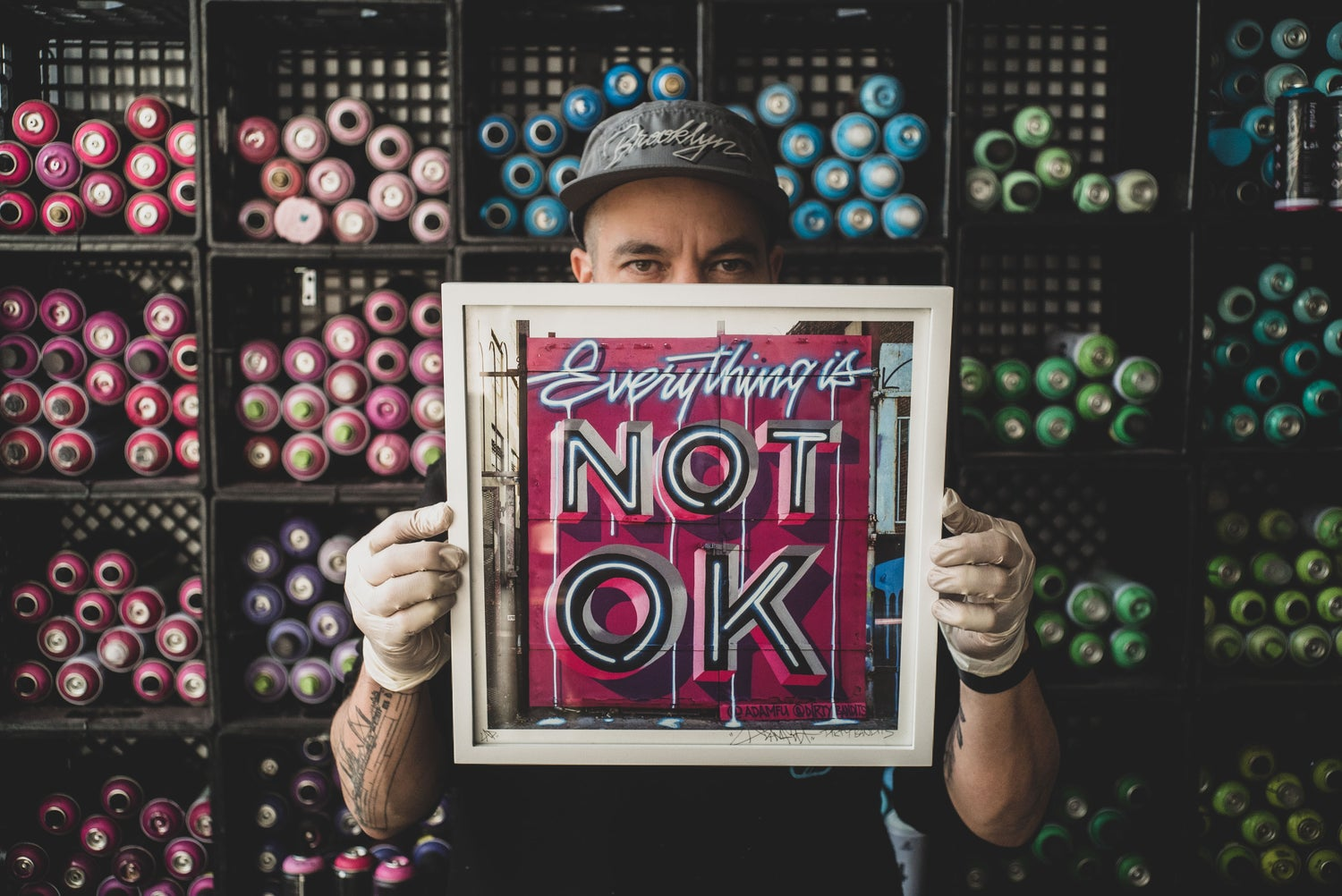 Image of Everything is NOT OK print made with Dirty Bandits