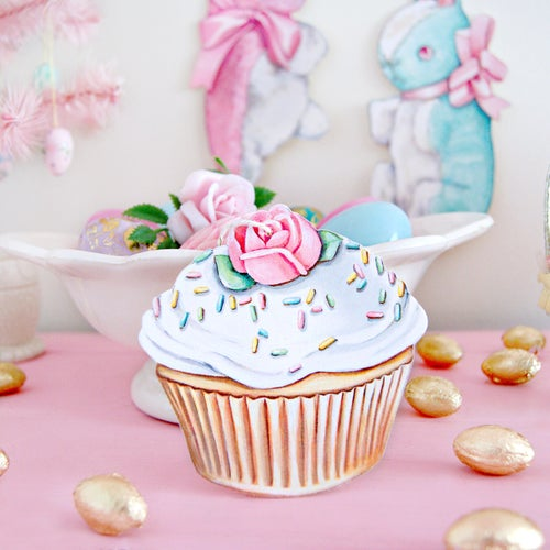 Image of Cupcake ornament (white or pink)
