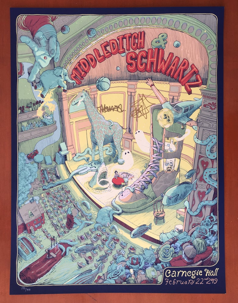 Image of Middleditch & Schwartz - Carnegie Hall - SIGNED POSTERS