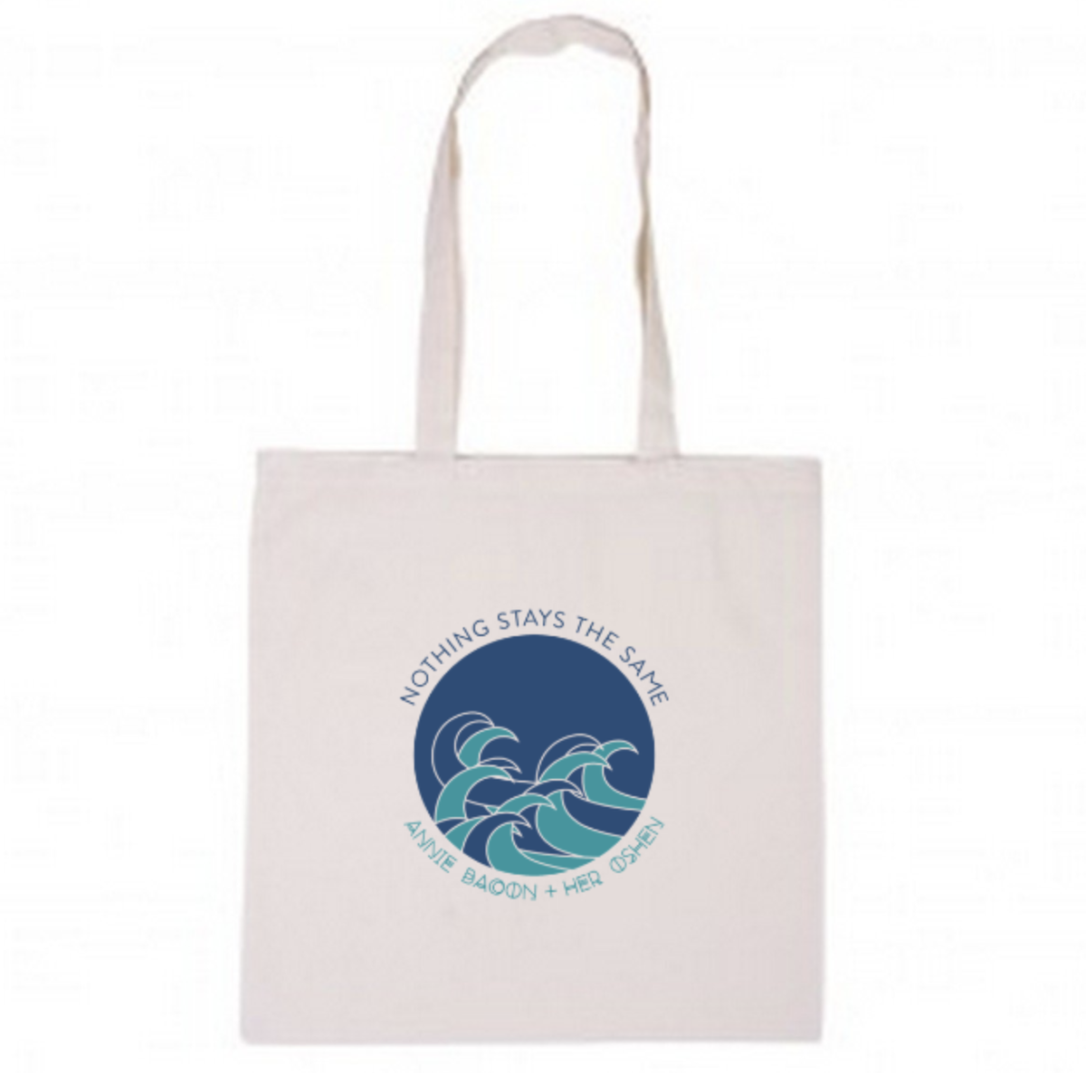 Image of Nothing Stays The Same - waves tote bag