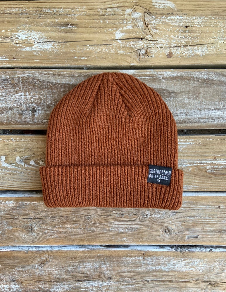 Image of Surfin Spoon Beanie - Burnt Orange