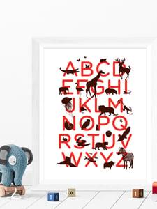 Image of Alphabet print for the nursery A3 art prints