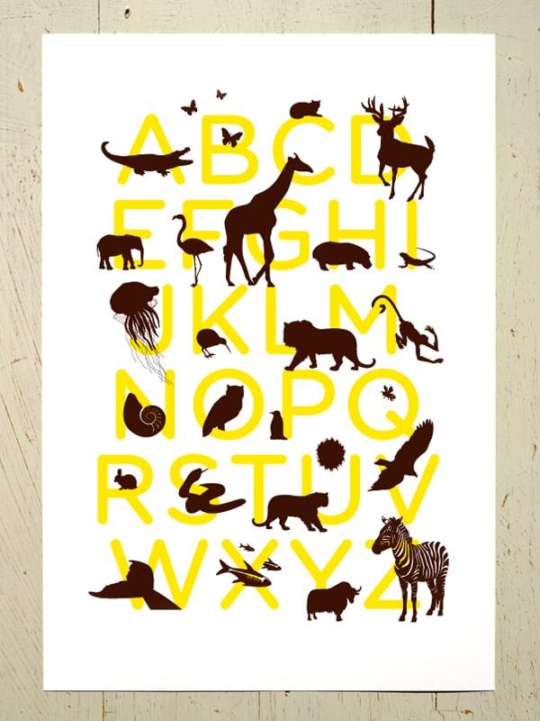 Image of Alphabet print for the nursery A4 art prints