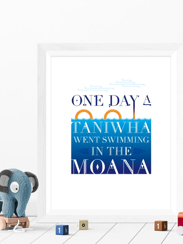 Image of One Day A Taniwha A4 art print