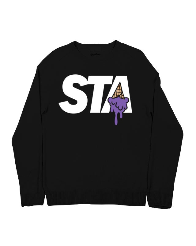 Image of STA INCREDIBLE HULK CREWNECK BLACK
