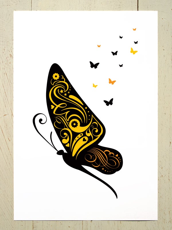 Image of Butterfly A4 art prints
