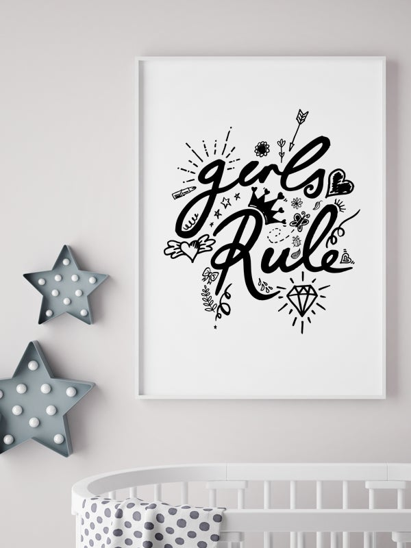 Image of Girls Rule A4 or A3 art prints