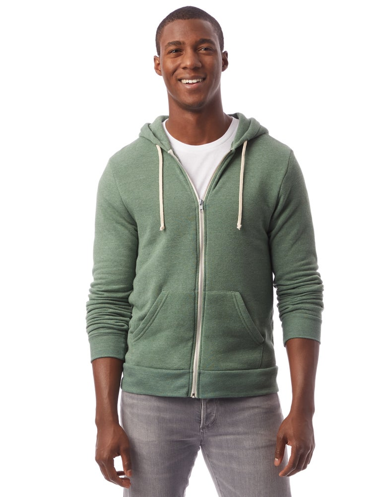 Image of Eco-Fleece Hoodie - Dusty Pine