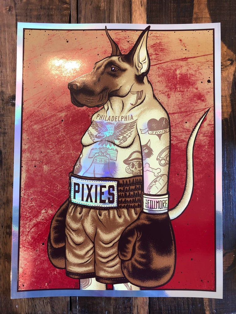 Image of Pixies - March 18th, 2019 - Philadelphia, PA - Rainbow Foil Edition