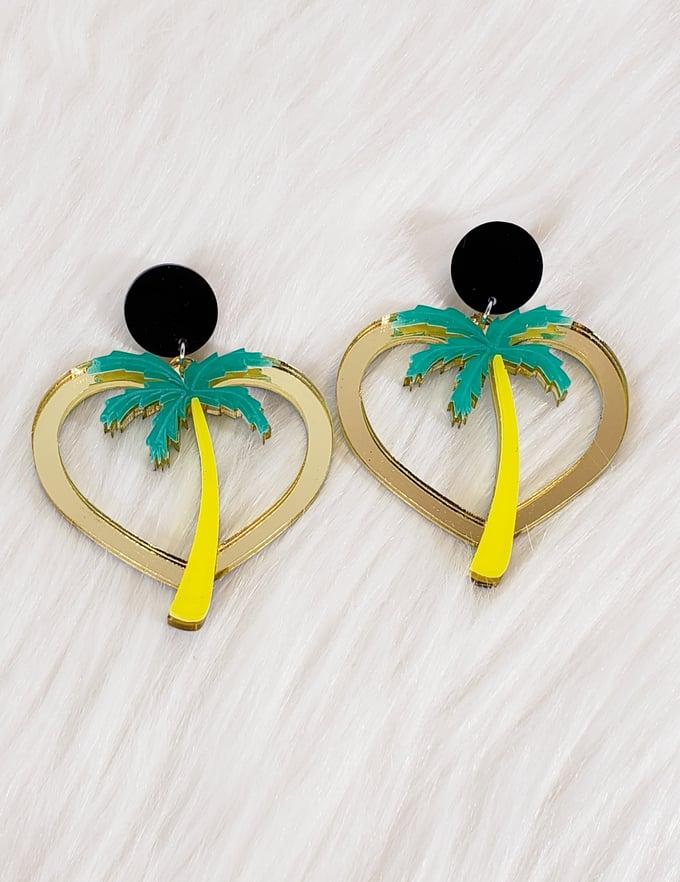 Image of Palm Tree Earrings