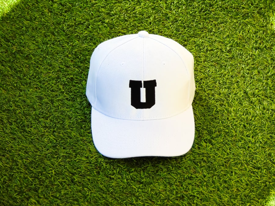 "Image of ""U"" Strapback (White)"