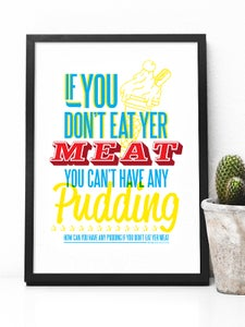 Image of Eat Yer Meat A4 art print