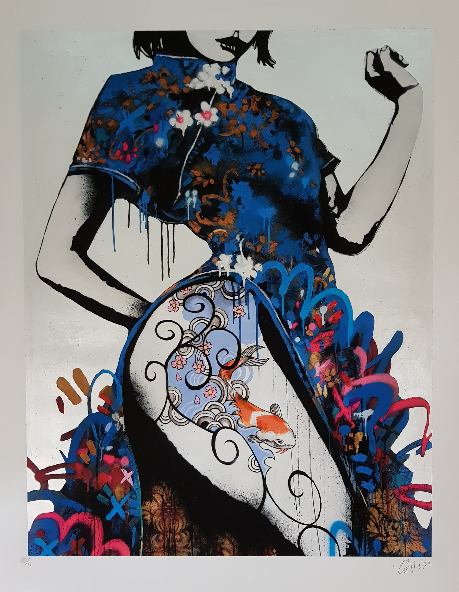 """Image of COPYRIGHT """"PURITY"""" LTD EDITION 13 - HAND FINISHED 22CT GOLD LEAF - 90CM X 72CM"""