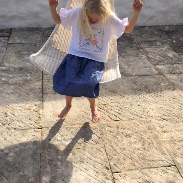 Uva Skirt-denim linen