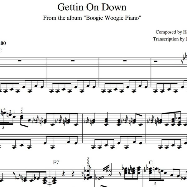 "Image of ""Gettin On Down"" Sheet Music"
