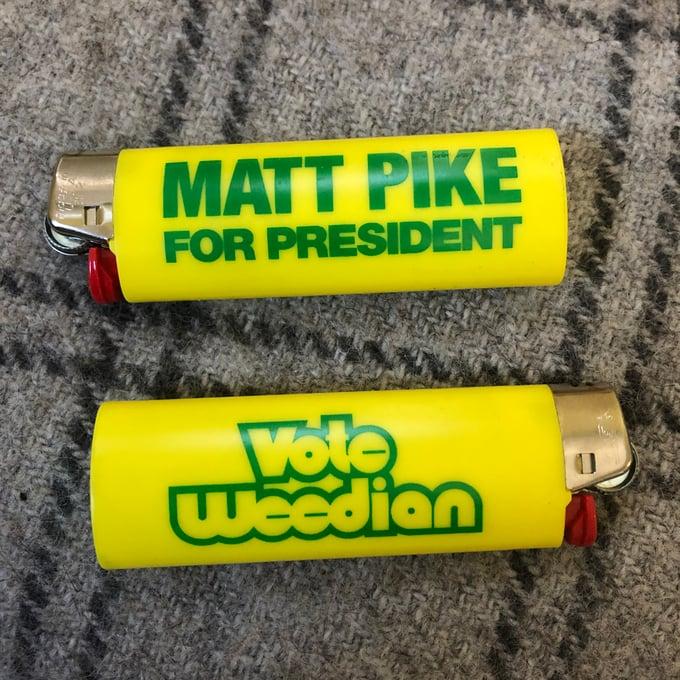 Image of Matt Pike For President Bic Lighter