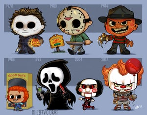 Image of Evolution of Horror Icons 2 print set