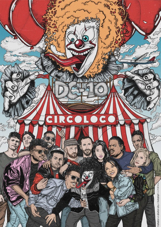 Image of CIRCO LOCO AT DC10 (LIMITED EDITION PRINT)