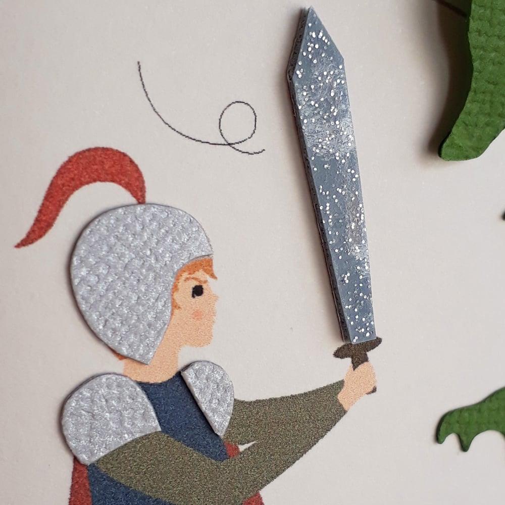 Image of TABLEAU - Le chevalier et le dragon