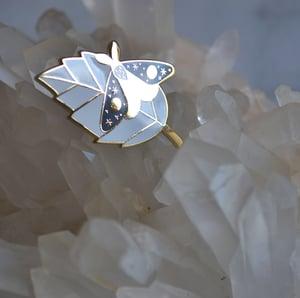 Image of Resting Moth Enamel Pin