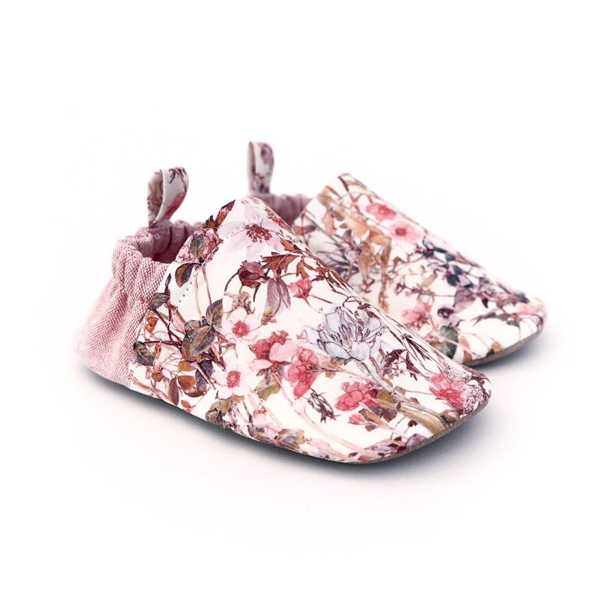 Image of Liberty wildflowers Liberty print handmade soft baby shoes