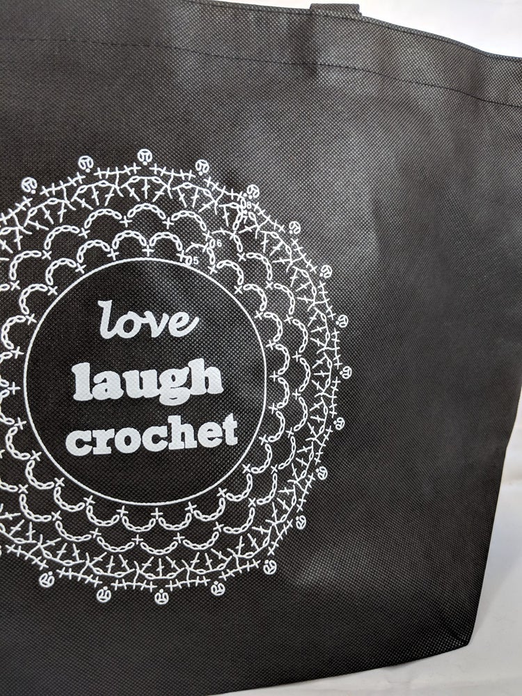 Image of Love Laugh Crochet Reusable Bag