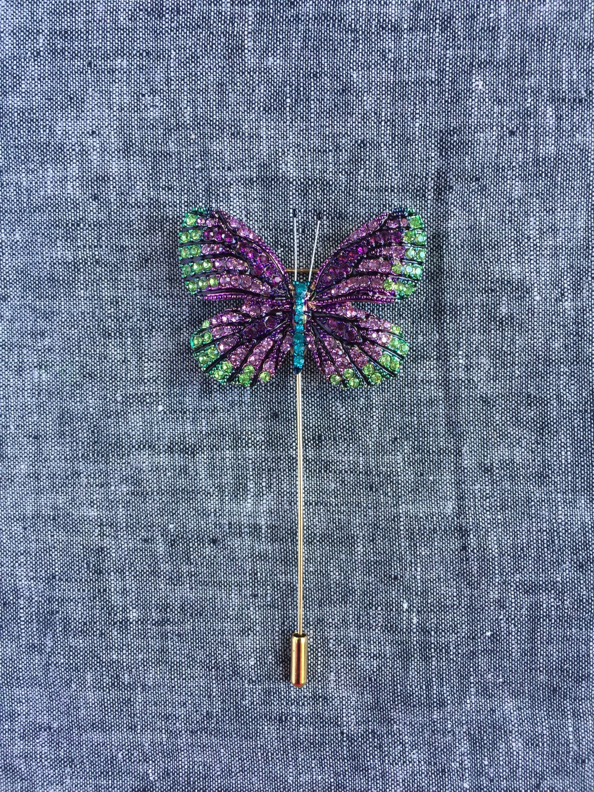 Image of Butterfly Lapel Pin (Purple, Green)