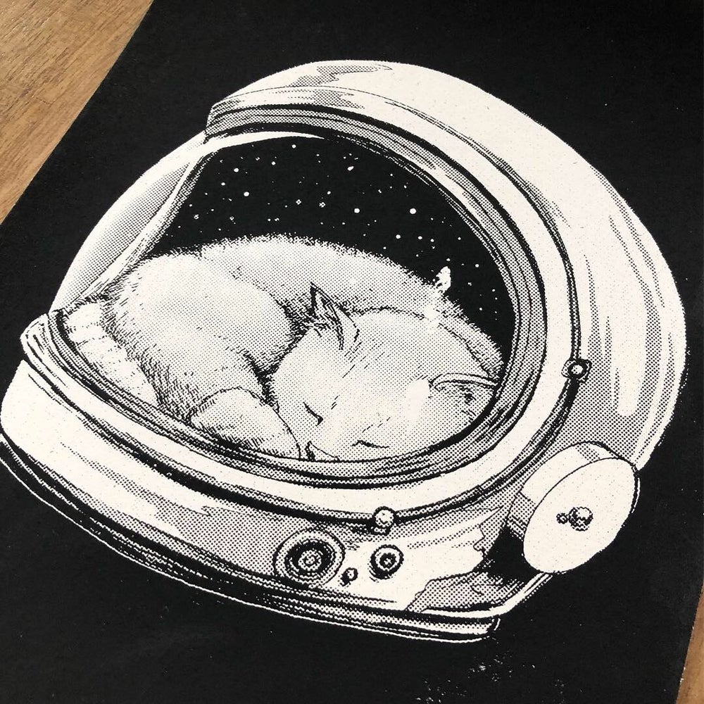 Image of Cuddles up in Space