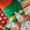 Green Rainbow Star Knee Patch Trousers - Ages 0-13