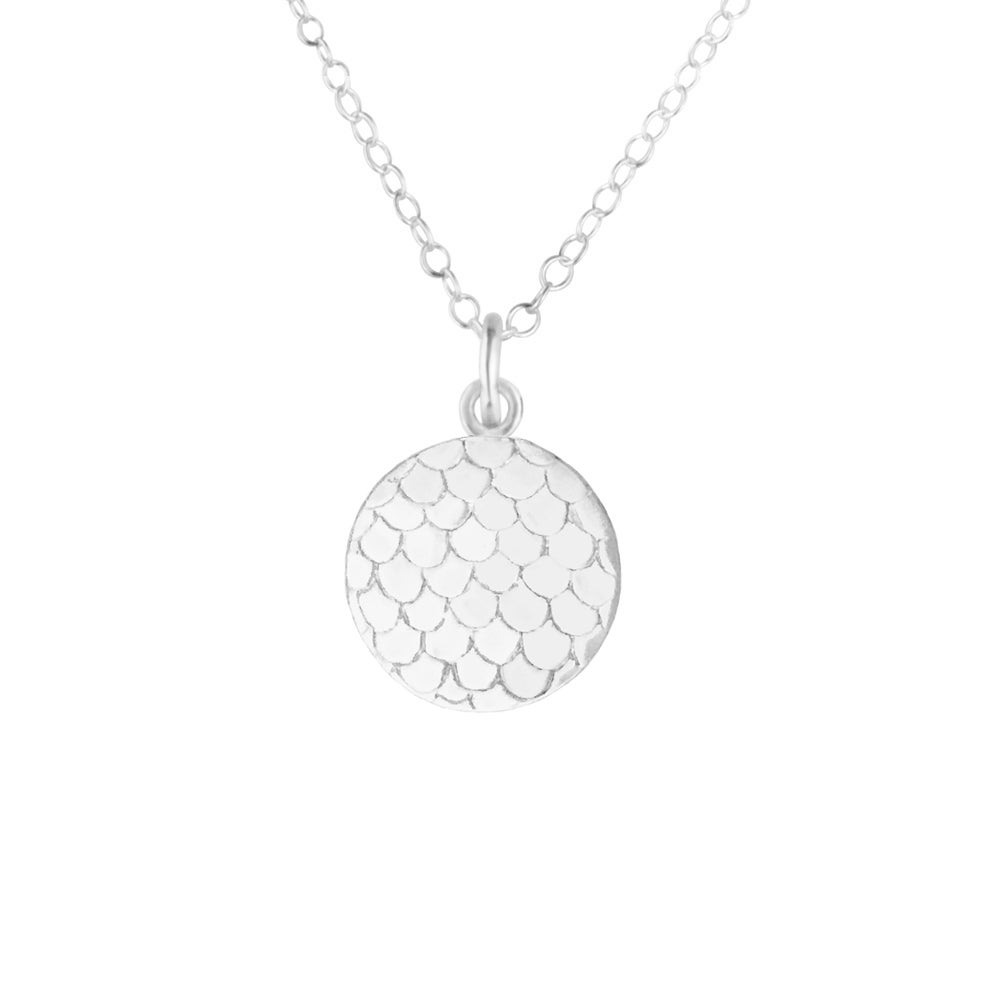 Image of Small Mermaid Scale Necklace - Sterling Silver