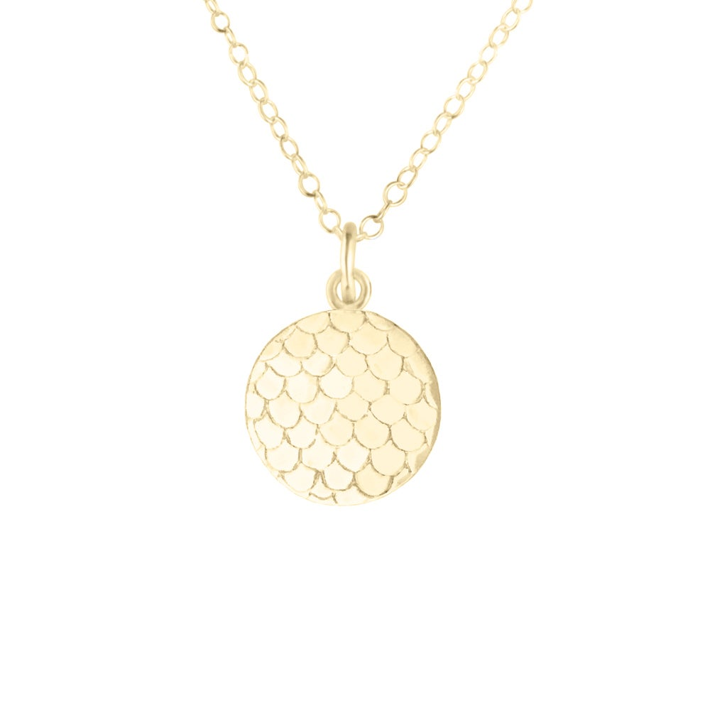 Image of Small Mermaid Scale Necklace - Gold