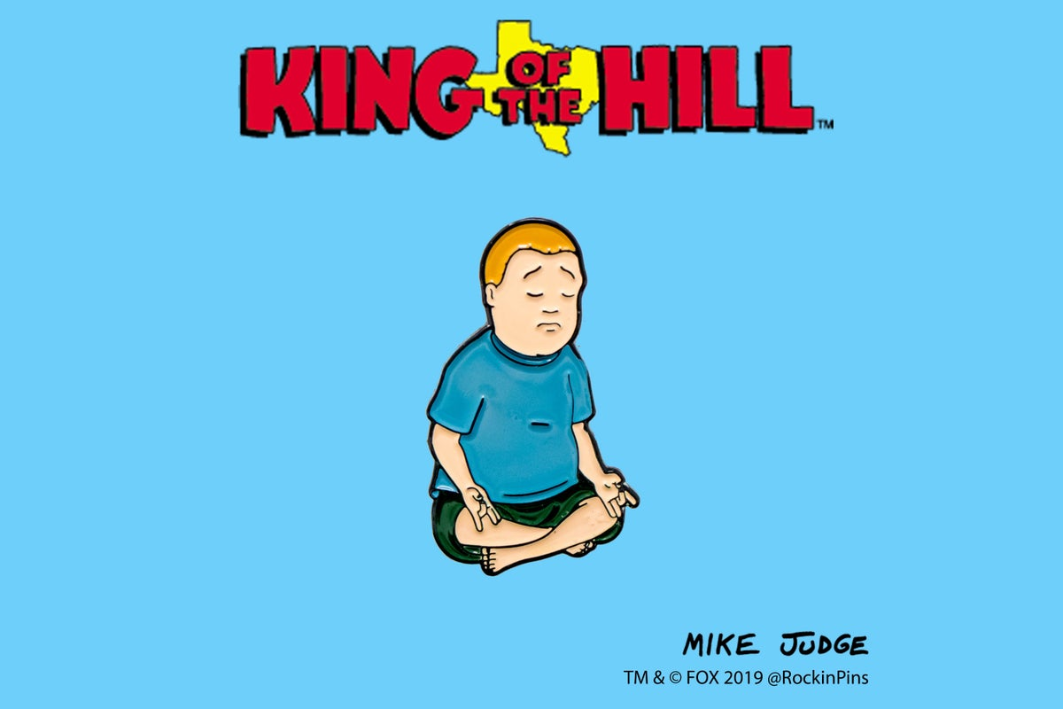 Image of King of the Hill - Bobby Hill Meditating Enamel Pin